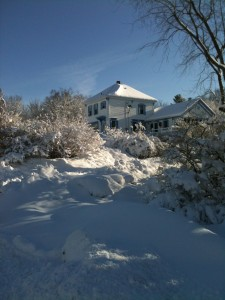 My island home in winter